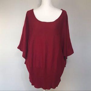 Lane Bryant Women's Sweater Maroon Plus Size 22/24